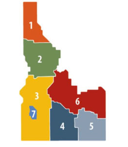 Idaho Coordinating Comittee Map