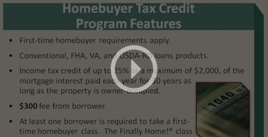 Homebuyer Tax Credit Video